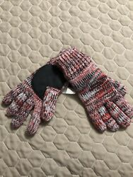 Chicago Blackhawks Womens Mens Winter Gloves One Size Nwt Knit