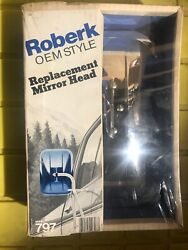 Roberk Chrome Replacement Mirror Head Model 797 Fits Goose-neck Arms Nos