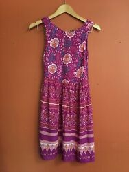 MINKPINK Urban Outfitters Indian Cotton Mini Festival Dress Xs