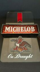 Tested Good Vintage Lighted Beer Sign Michelob On Draught