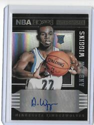 2014-15 PANINI NBA HOOPS ANDREW WIGGINS AUTOGRAPH RC AUTO TIMBERWOLVES