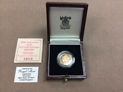 1989 Gold Proof Sovereign In Original Royal Mint Box With Certificate