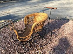 Antique 1800s Heywood Wakefield Rattan Wicker Child / Doll / Carriage / Stroller