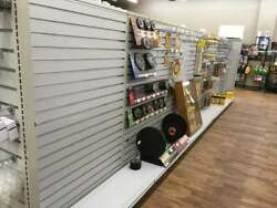 Slat wall store fixtures  shelving 5' high 64 plus lineal feet
