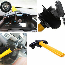 Car T Shape Steering Wheel Clip Anti-theft Device Security Metal Clamp Lock Kit