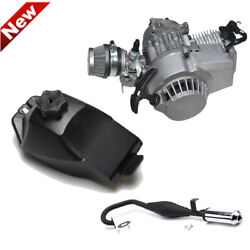 47cc 49cc 2-stoke Engine Exhaust Pipe Fuel Gas Tank For Mini Dirt Bike Scooter