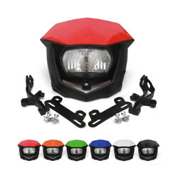 Universal Headlight Head Lamp Fairing For Supermoto Bike Dirt Bike