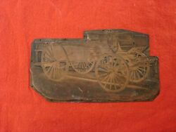 Fire Department Antique Copper Printing Press Plate