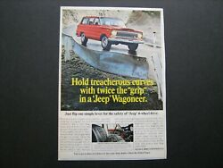 1967 Kaiser Jeep Wagoneer Full-color Vintage Ad From Estate Collection--nice And03967