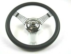 14and039and039 Banjo Steering Wheel/ Horn W/ Black Half Wrap 9 Hole S82018h/s83005c