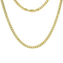14k Solid Yellow Gold Miami Cuban Link Chain Necklace 4.2mm Size 22-28 Inches