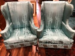 Hickory Chair Elegant Wingback Chairs With New Upholstery