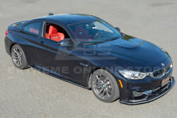 Performance Carbon Fiber Front Lip Splitter And Side Skirts For 15-20 Bmw F82 M4