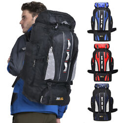 100L Military Tactical Backpack Camping Hiking Outdoor Travel Rucksack Luggage $19.90