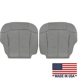 1999 2000 2001 2002 Chevy Silverado Synthetic Leather Seat Covers Light Gray