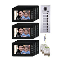 New Home Entry 2 Wire Video Intercom System Kit With 12 Resident Button Panel