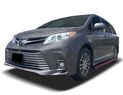 Broadfeet Aluminum Running Boards R88 Black/Red For Toyota Sienna 2015-2020