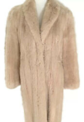 Womens Vintage Mink Fur Coat Cream Full Length
