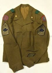 Us Wwii Ike Jacket - Bullion 5th Army And Ix Corps Patches