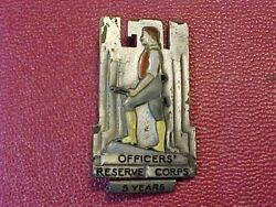 Original Scarce Pre Wwii Us Officer Reserve Corps 5 Years Badge Sterling Bbandb