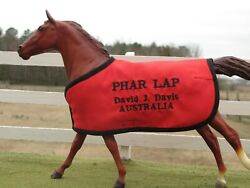 PHAR LAP custom embroidered blanket fits Breyer thoroughbred TB race horse