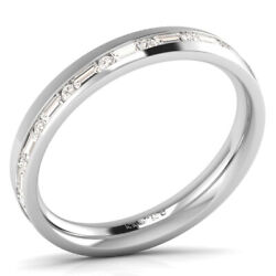 0.70ct Baguette And Round Cut Diamonds Eternity Ring Available In 9k Gold