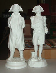 Michael Sutty Napoleon And Nelson White Bone China Figurines / C.1980s / Excellent
