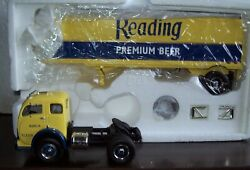 134 Reading Premium Beer Pa 1953 White 3000 Tractor And Trailer First Gear