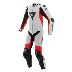 New Dainese D-air Racing Misano Perf. Suit Menand039s Eu 50 White/red 1d10016u2550