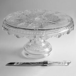 Rare House Waterford Crystal 12 Days Of Christmas 2005-2010 Cake Plate Knife