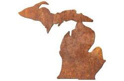 12 To 24 Michigan State Outline Metal Wall Hanging Art Decor, Various Finishes