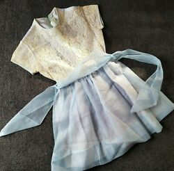 1950's Girls Pageant Dress Lace Bodice Full skirt Union Label Lil Bee Frockette