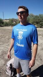 Disc Golf Performance Tee - #GrowTheSport - Size Large