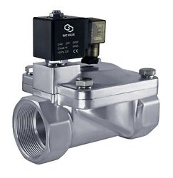 Stainless High Pressure 230 Psi Electric Solenoid Process Valve 2 Inch 24v Dc Nc