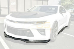Eos T6 Style Carbon Fiber Front Lip End Caps And Side Skirts For 16-18 Camaro Ss