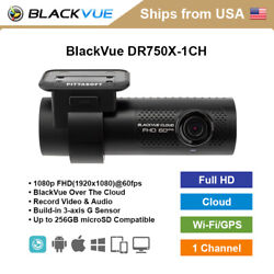 Blackvue 1 Channel Dr750x-1ch Full Hd Wifi Gps 128gb Dashcam + Hardwire Cable