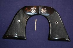 Checkered Buffalo Horn / Stag Grips For A Ruger Super Blackhawk