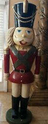 Nutcracker Life Size Resin Christmas Statue Prop Display Porch Decor 6and039 Soldier
