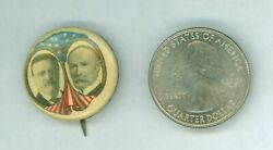 1904 President Theodore Roosevelt And Fairbanks Jugate Political Pinback Button