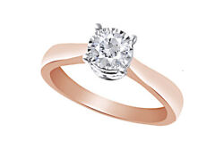 1ct Diamond Solitaire Engagement Ring 14k Rose Gold Holiday Sale