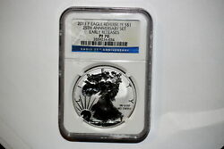 A36/375,silver Eagle,ngc Reverse Proof 70 2011 P Early Release Rare