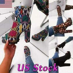 Women Ankle High Platform Lug Sole Chunky High Heel Open Toe Boots Booties Shoes