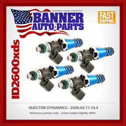 Set Of 4 Injector Dynamics 2600.60.11.14.4 For Honda Accord/prelude 240sx-s13/s1