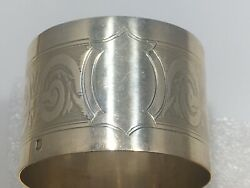 C.1900 Antique French Sterling Silver Napkin Ring Holder Louis Xvi 950 No Initia