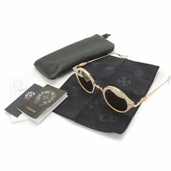 CHROME HEARTS BELLA Sunglasses White Pink Gold Mirror Lens 45□24 133 From Japan