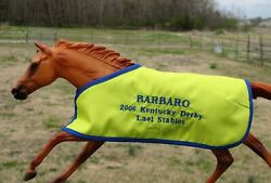 BARBARO TB embroidered blanket Breyer thoroughbred race horse