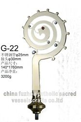 69 1/3h Crosier Brass And Stainless Steel Decorated With Top Level Zircon G-22