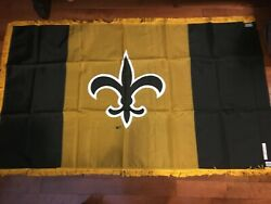 New Orleans Saints 1990's Proto Type Banner  One Of A Kind  3 X 5 Feet
