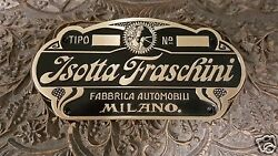 Isotta Fraschini Car Body Builders Medallion 1905 - 1935 Stutz And Other Makes
