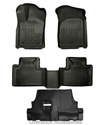 Husky Liners WeatherBeater 2011-2020 Toyota Sienna 1st/2nd/3rd Row Mat Set BLACK